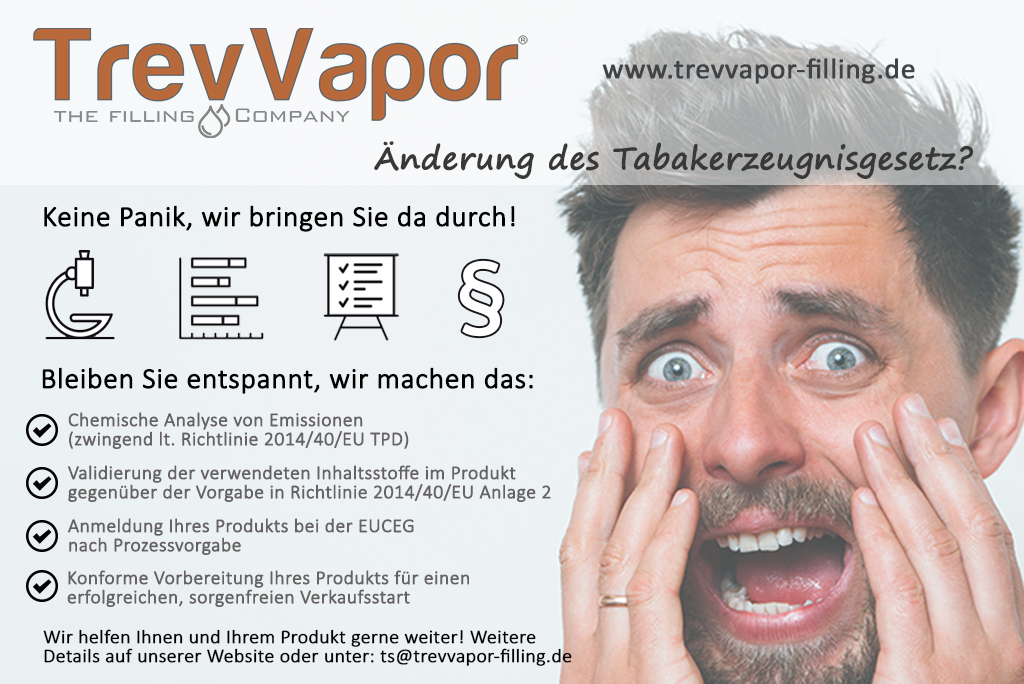 Änderung des Tabakerzeugnisgesetz für elektronische zigaretten
